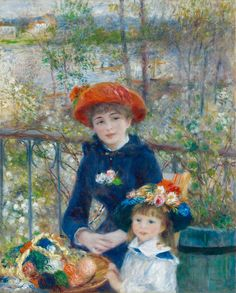 Great art from Art Authority for iPad: Two Sisters (On the Terrace) by Renoir, Pierre-Auguste