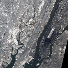 New York from space c/o Nasa - it looks so cold!
