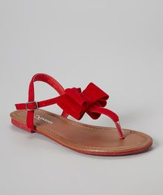 Take a look at the Red Bow Alvina Sandal on #zulily today!