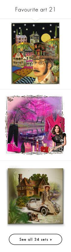 """Favourite art 21"" by cathiemcnally ❤ liked on Polyvore featuring art, Giuseppe Zanotti, Carolina Herrera, Charlotte Tilbury, vintage, Night, autumn, fantasy, witch and Cathy Waterman"