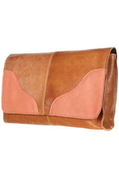 Leather Contrast Clutch Bag ($20-50) - Svpply