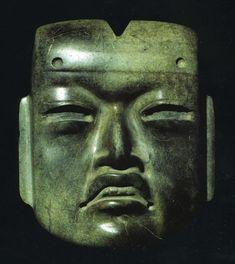 Templo Mayor (Main Temple). Tenochtitlan (modern Mexico City, Mexico). Mexica (Aztec). 1375–1520 C.E. Jadeite Olmec-style mask