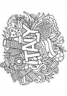 849 Best Adult Coloring Book Images On Pinterest