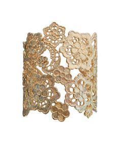 Look what I found on #zulily! Gold Lace Cuff #zulilyfinds