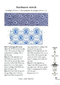 The Crochet Stitch Bible - Betty Barnden - Google Books - Starburst or Catherine's Wheel stitch