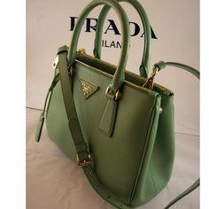 Tip: Prada Handbag (Green) - Click pics for best price Cheap Designer Handbags, Cheap Handbags, Handbags Online, Burberry Handbags, Prada Handbags, Handbags Michael Kors, Cheap Mcm Bags, Prada Tote Bag, Prada Purses