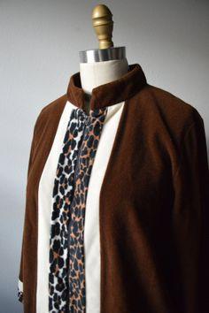 Vintage Robe 1960's Vanity Fair Dark Brown Velour by EadoVintage, $28.00
