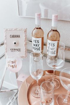 Chic Rosé Bart Cart | Marilyn Monroe Bubble Gum | Bar Cart Styling | Cabana Service | Home Decor | Rosé & White Cart Cart | Blondie in the City by Hayley Larue