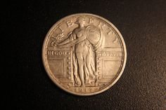 1917 Type 1 Standing Liberty Quarter by Myvints on Etsy, $78.00