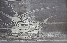 1930's newspaper aerial photo of the Hollywood Riviera Beach Club.