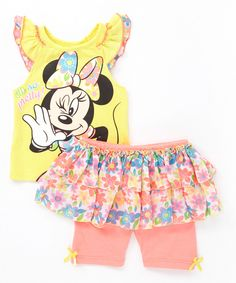 Look at this #zulilyfind! Minnie Mouse Tank & Skirted Leggings - Infant, Toddler & Girls by Minnie Mouse #zulilyfinds