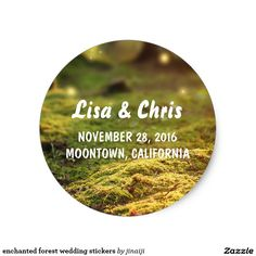 Shop enchanted forest wedding stickers created by jinaiji. Enchanted Forest Party, Easy Peel, Wedding Stickers, Wedding Favors, Wedding Ideas, Custom Stickers, Rustic Wedding, Activities For Kids, Make It Yourself