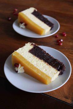 Mango cheesecake med brownie surprise