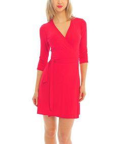 Look what I found on #zulily! Red Wrap Dress #zulilyfinds