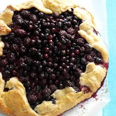Blueberry-Blackberry Rustic Tart.  I made mine with a refrigerated pie crust and halved the other ingredients.