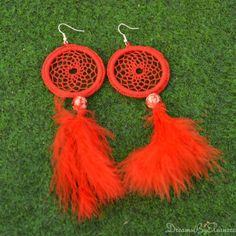 Dreamcatcher Earrings  Dream Catcher Earrings by DreamsByEleanora