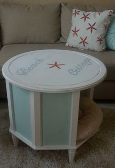 Lovely Coastal Shabby Chic Pet Bed end table by FanciedUpFinds, $90.00