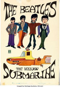 "The Glass Onion Beatles Journal: Vintage Beatles Italian ""Yellow Submarine"" poster Beatles Poster, Les Beatles, Beatles Art, Rock Posters, Band Posters, Concert Posters, Movie Posters, Comic Cat, Posters Vintage"