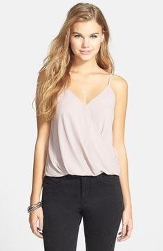 Lush Faux Wrap Woven Camisole (Juniors) available at #Nordstrom