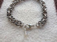 Helms Weave Chainmaille Bracelet by shadowonthesun9 on Etsy