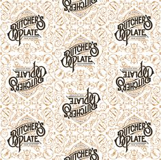 Butcher's Plate on Behance