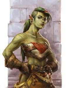 ArtStation - Ork gal, Joanna Wolska: