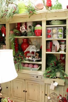 Sweet Something Designs: Christmas At Nell Hill's  Hutch Chock Full of Christmas