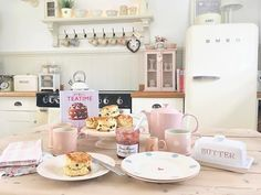 """494 Likes, 41 Comments - Pauline @hugsandhearts_ (@hugsandhearts_) on Instagram: """"Anyone care for a scone? #susiewatson #scones #homemade #smeg #cottage #countryhome #cathkidston"""""""