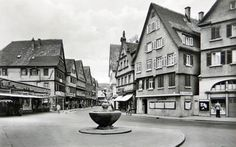 Blick in die Markstraße von Bad Cannstatt   https://www.facebook.com/stuttgarthistorisch/photos/a.193233527475046.46820.193231040808628/1158874867577569/?type=3