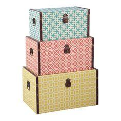 Geometric 3 Piece Trunk Set