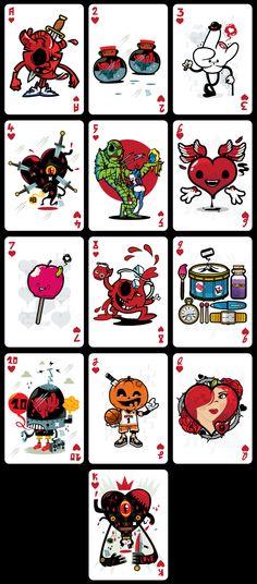 Demons & Diamonds (Playing Cards)   illustration by sebastien CUYPERS, via Behance