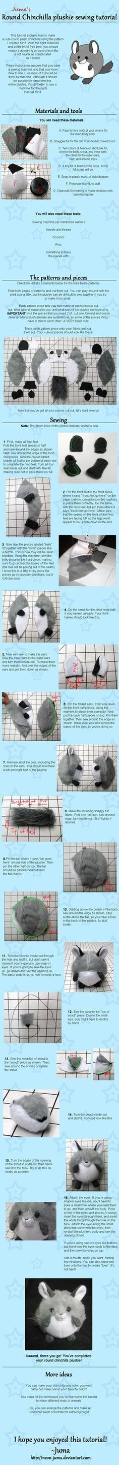 DIY Tutorial: How To Sew A Round Chinchilla Plushie Toy Sewing Tutorial