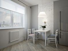 Фотография: Кухня и столовая в стиле Скандинавский, Квартира, Проект недели, Победа Дизайна, новостройка, трешка – фото на InMyRoom.ru