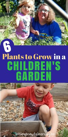 CHILDREN'S GARDEN: Do youwantto grow food with your kids but don't know where to start? Choosing the right plants can make all the difference in your success. Check out the best plants to grow in a children's garden with your kids!