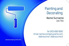 Great Business Card Design For Painting Decorating Businesses Customise A Range Of