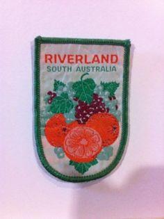 Vintage Souvenir Patch Riverland S.A. Fruit