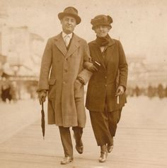 Atlantic City Boardwalk- 1923 Vintage Photograph