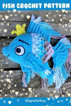 Double Crochet, Single Crochet, Crochet Fish, Baby Fish, Fishing Gifts, Sewing Basics, Crochet For Beginners, Embroidery Techniques, Crochet Patterns Amigurumi