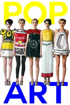 Pop art inspired fashion by The Rodnik Band