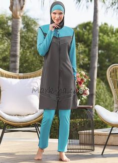 Adasea 1094 Full Cover Burkini Swimsuit is one of the most stylish set of 2018 spring - summer collection Adasea 1094 Full Cover Burkini Swimsuit details, Fabric is made by Pa - Lycra Islamic Swimwear, Muslim Swimwear, Modest Fashion, Hijab Fashion, Hijab Trends, Modest Swimsuits, Red Swimsuit, Muslim Women, Summer Collection