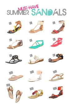 Must have summer sandals...