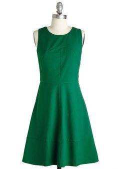 Cutout and Play Dress. Let loose and cut a rug in this emerald-green dress by Pink Martini! #gold #prom #modcloth