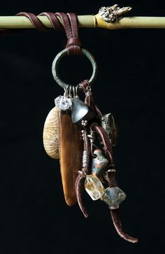 leather and gem jewelry