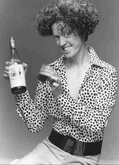 """Patrick Bristow in """"Wine with Leslie,"""" early 90's Groundlings sketch."""