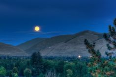 Moonrise Over Missoula  Missoula, Montana  ©Mark Mesenko