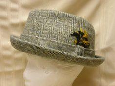 Vintage Pendleton Hat Pure Virgin Wool Size 7 3/8 Fedora Tweed Men's Hat Feather #Pendleton #Fedora