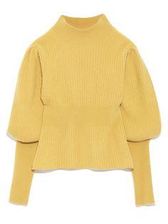 パフスリーブリブプルオーバー(ニット)|FURFUR(ファーファー)|ファッション通販|ウサギオンライン公式通販サイト