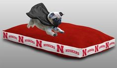 Use the code PINFIVE to receive an additional 5% discount off the price of the Nebraska Cornhuskers Sports Logo Pet Bed at SportsFansPlus.com