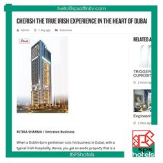 It's always nice to see #SPShotels clients getting press coverage! Click on the pin to read all about the @bonningtontower ​and the true Irish experience in the heart of Dubai. For more great news & content, subscribe to our monthly(ish) newsletter: http://eepurl.com/bVLD9j