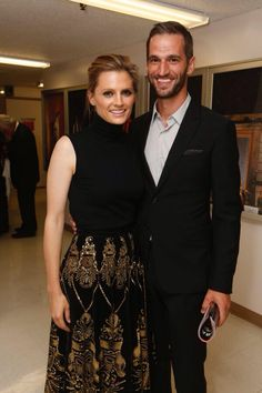 Stana Katic and husband, Kris Brkljac {They just recently got married--Apr 2015}